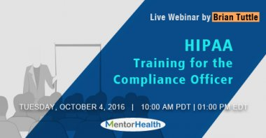 Training on hipaa compliance officer 2016 - Compliance officer certification programs ...